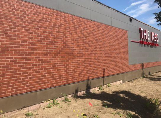 The Keg, Edmonton - Parging project (after)