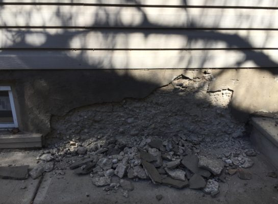 foundation wall crumbling
