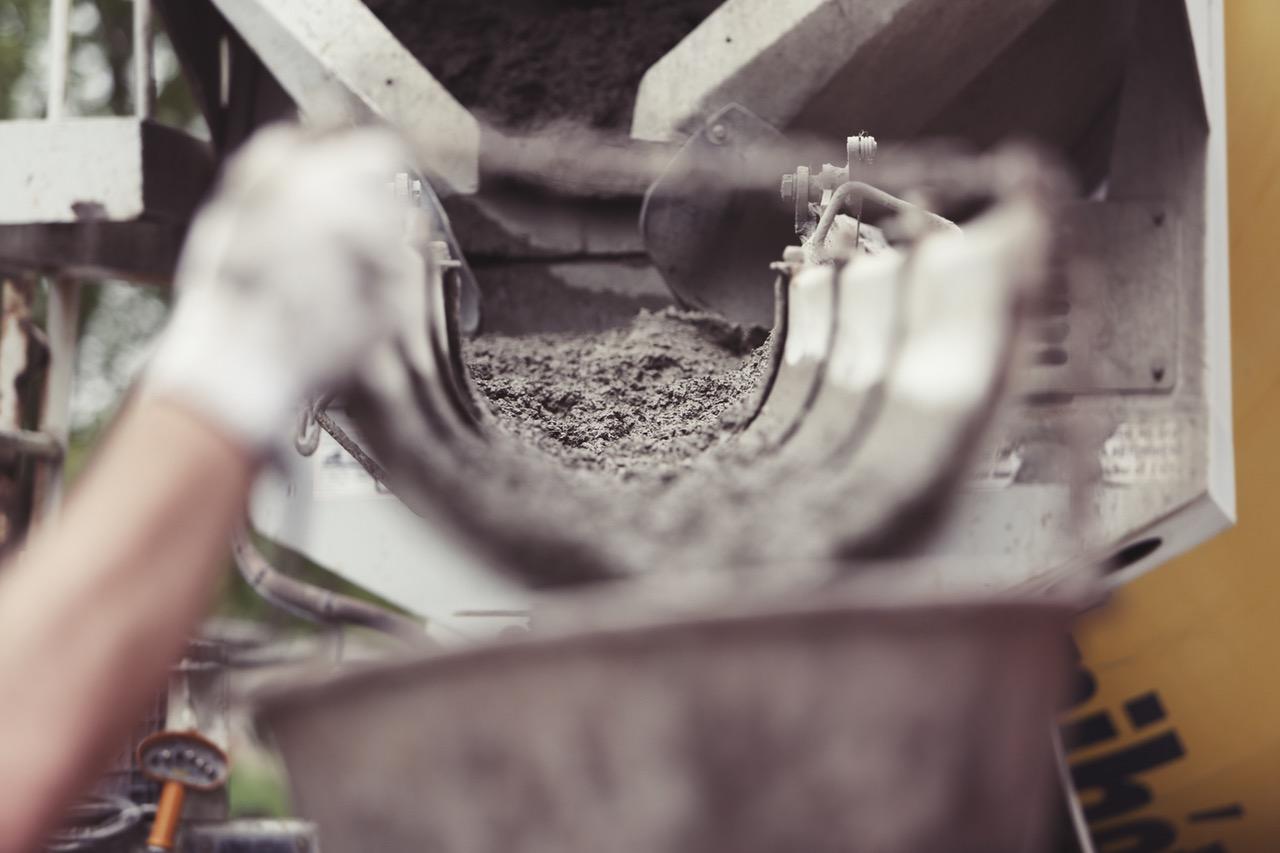 parging poured concrete