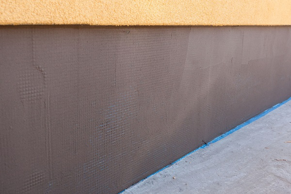 Plastered Foundation Wall