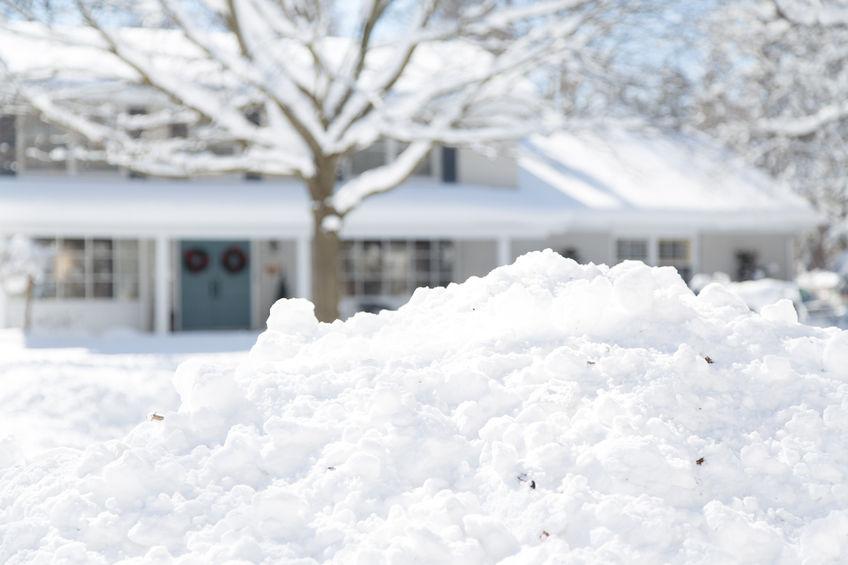 Edmonton house in winter